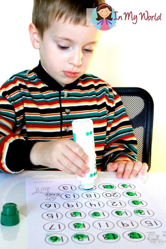 FREE Number 13 Dot marker maze