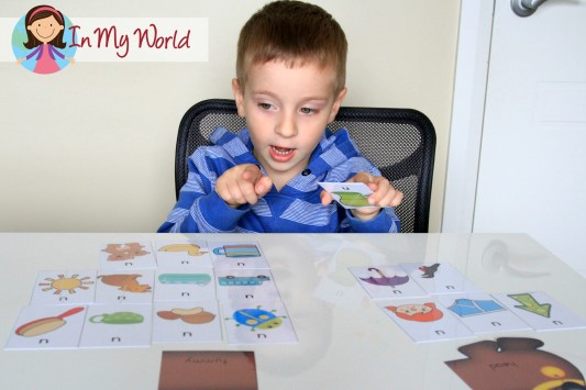 FREE Sound Hound activity - sort the pictures cards by letter sound position