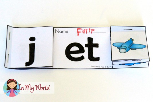 FREE Word Families Flip Book