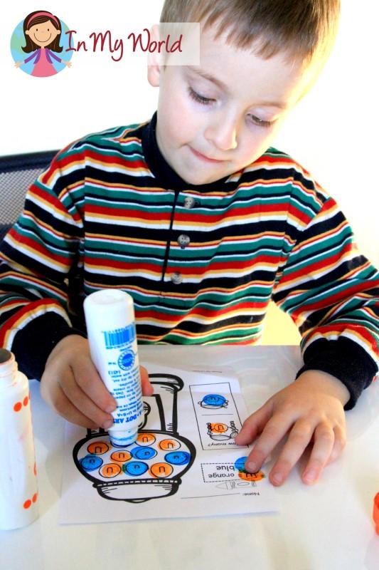Letter U gumball dot marker worksheet