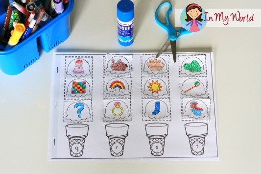 Preschool Letter T FREE Beginning Sounds cut and paste