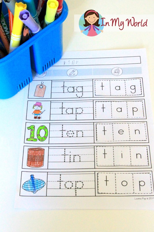Preschool Letter T FREE Beginning T word work page