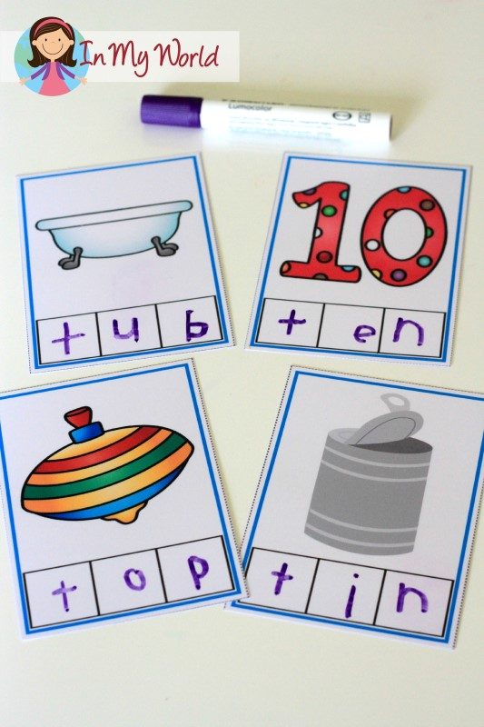 Preschool Letter T FREE CVC Phoneme Segmentation Cards Finished