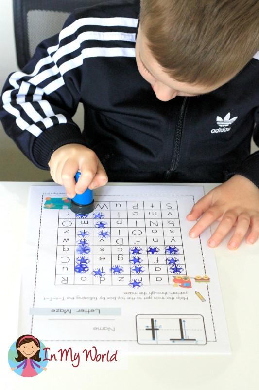 Preschool Letter T FREE Maze