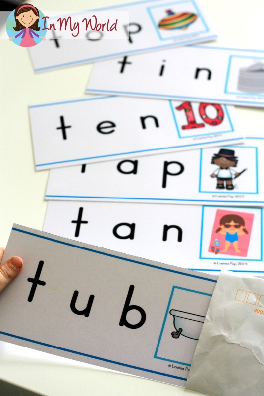 Preschool Letter T FREE Word Slider Cards