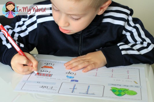 Preschool Letter T FREE Word Work Page