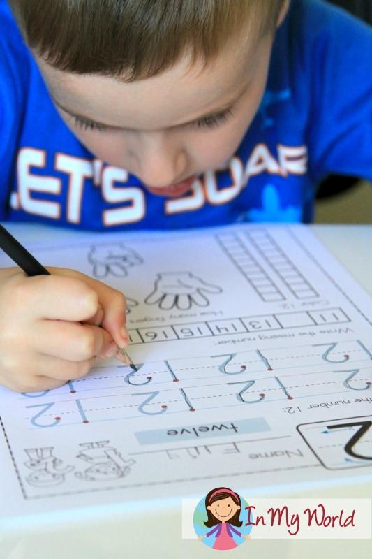Preschool Number 12 FREE Worksheet