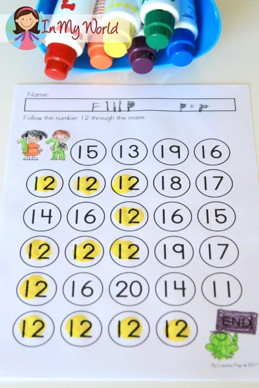 Preschool Number 12 Maze