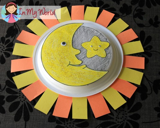Moon, Star, Sun paper plate craft
