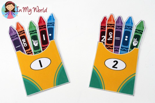 Back to School Preschool Centers - Number Sorting