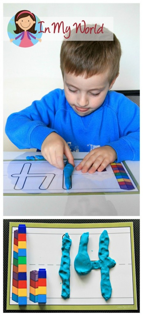 Preschool Letter of the Week Number Play Dough Mat