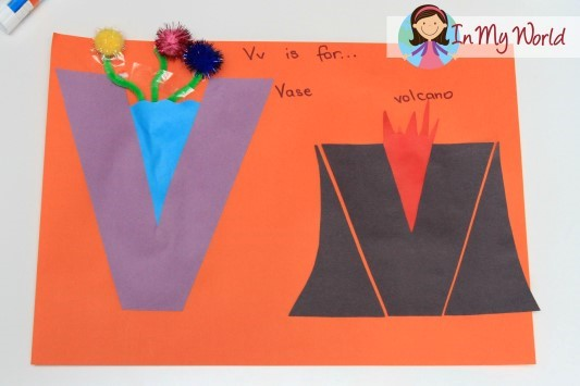 letter v craft preschool letter v in my world 23287