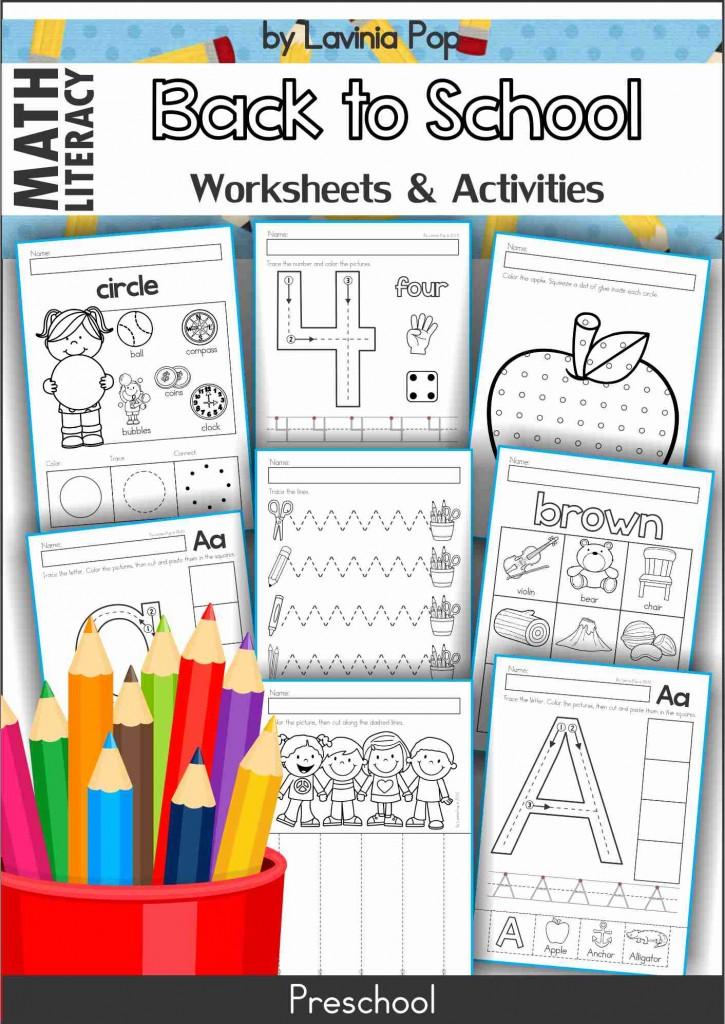 Back to School No Prep Preschool Worksheets and Activities