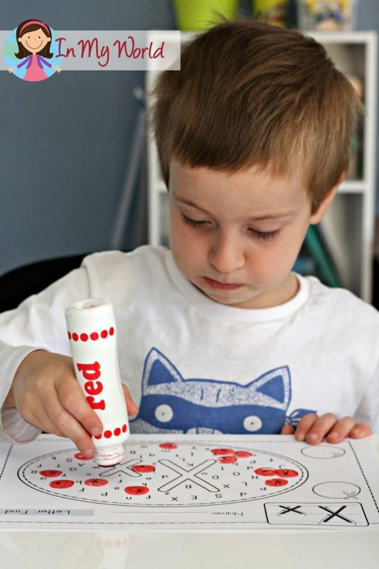 Preschool Letter X Word Find FREE