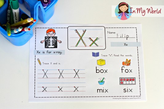 4 letter words with x preschool letter x in my world 20150 | Preschool Letter X 2