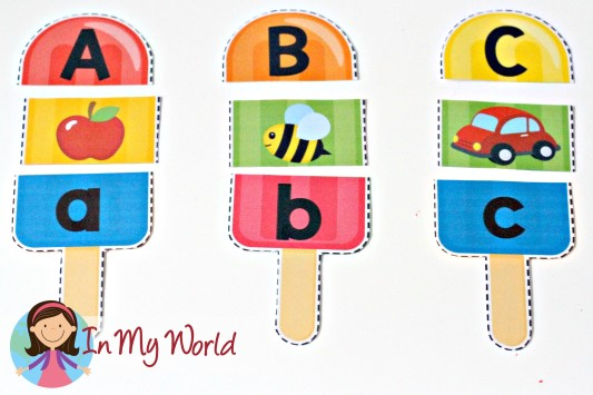 summer popsicle alphabet and beginning sounds free printable in
