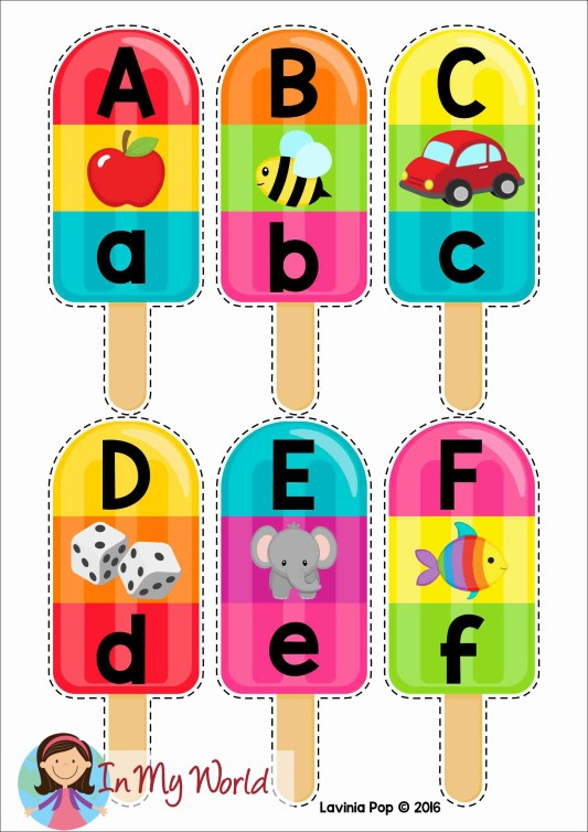 Summer Popsicle Alphabet and Beginning Sounds - FREE