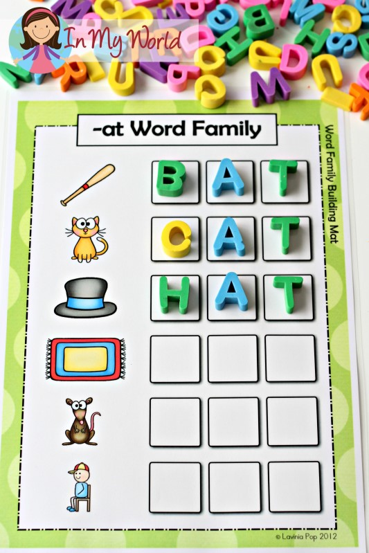 CVC at Word Family word building activity FREE