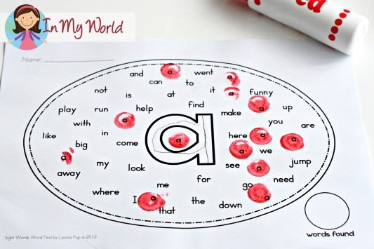 Sight Words Word Find FREE