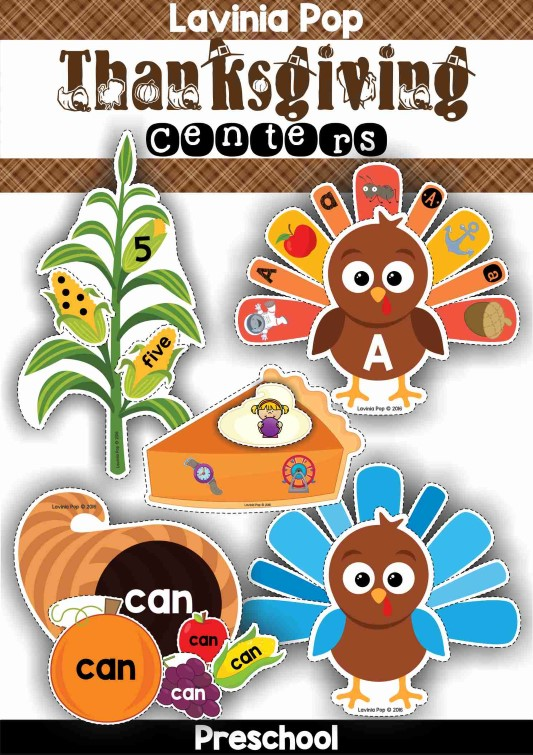 Preschool Thanksgiving Centers by Lavinia Pop