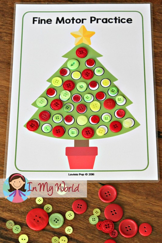 Christmas Preschool Centers In My World