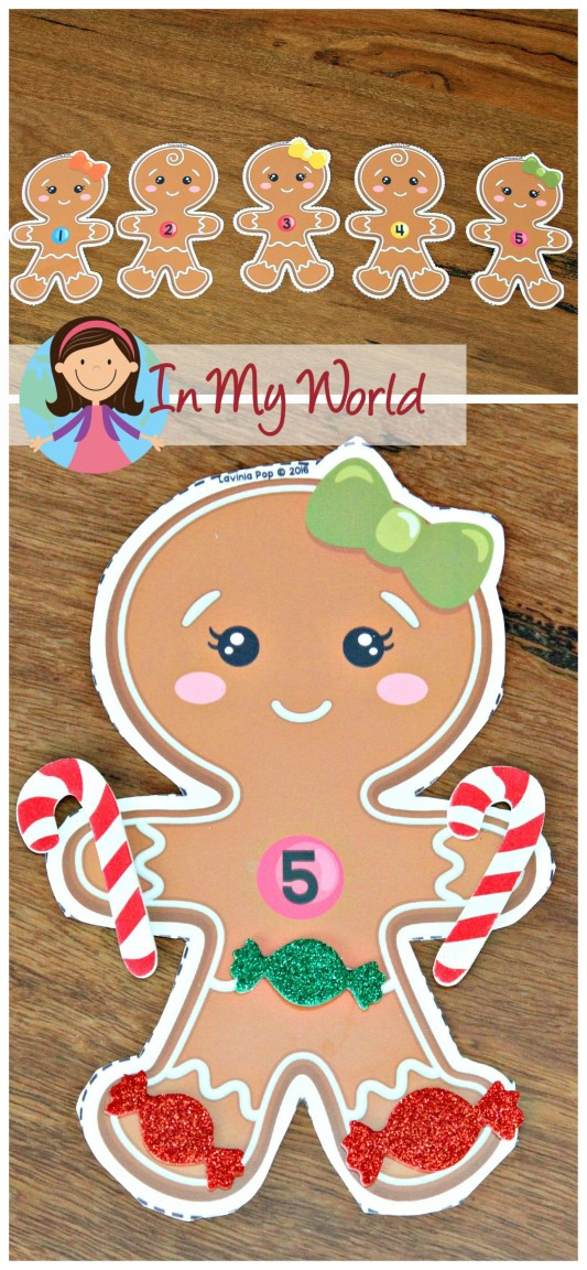 FREE Christmas Preschool Centers Gingerbread people counting