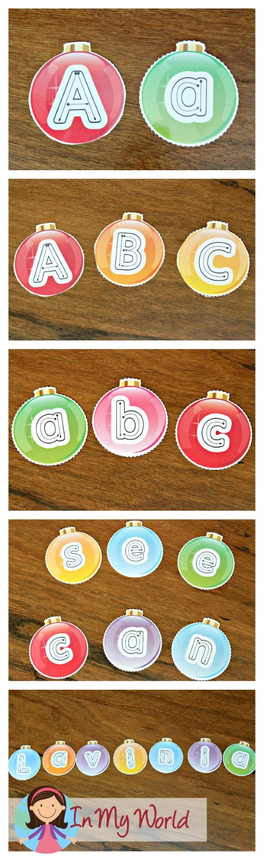 FREE Christmas Preschool Centers Alphabet Ornaments