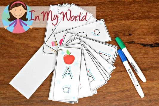 FREE Winter Preschool Center Activities: Alphabet Tracing Cards