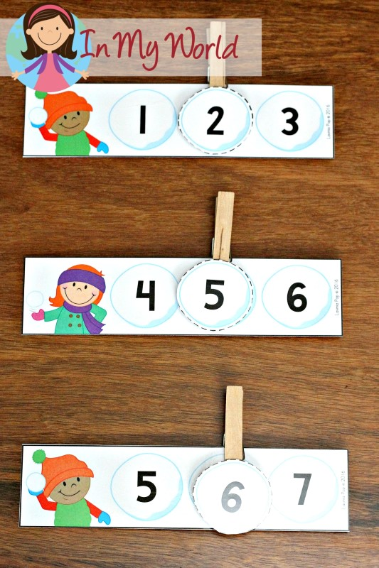 FREE Winter Preschool Center Activities: Missing numbers activity