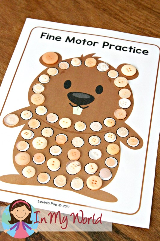 Groundhog Day Preschool Centers Fine Motor