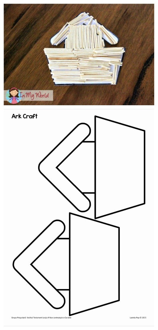 FREE Sunday School Lesson: Noah's Ark Matchstick Craft