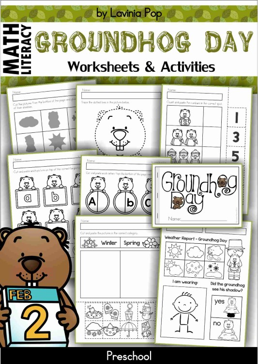 Groundhog Day Preschool Worksheets
