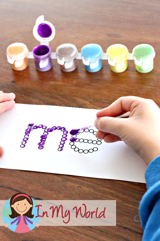 FREE Sight Words Q-Tip printables