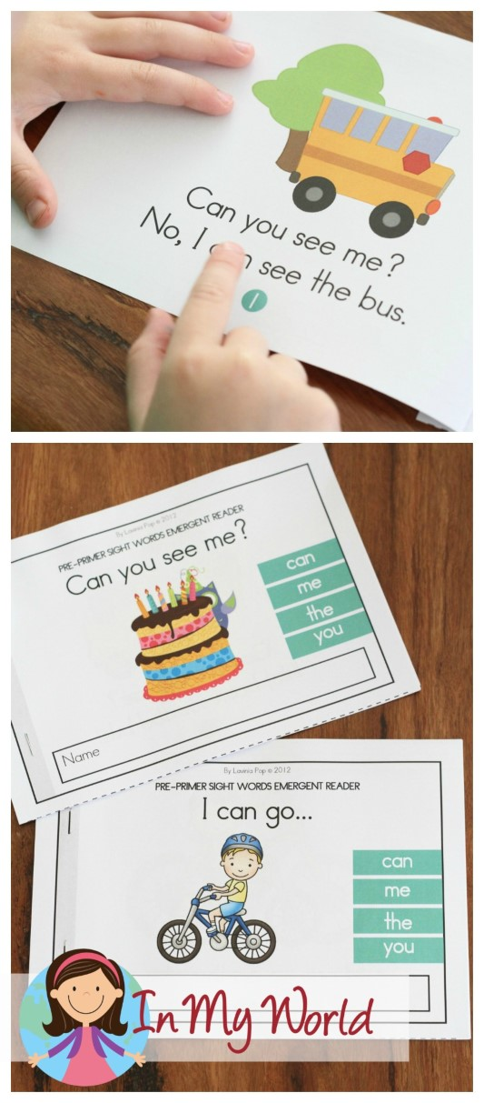 FREE Sight Words Booklets with Reading Comprehension pages