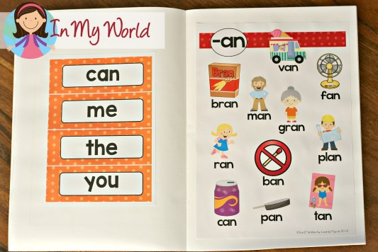 FREE Sight Words and Word Family Activities