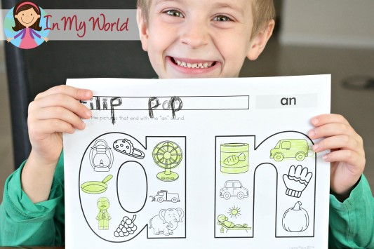 FREE -an Word Family Coloring Page