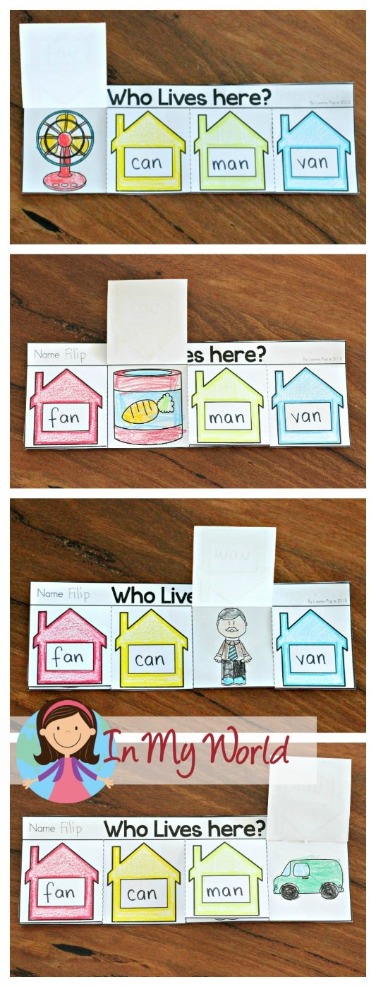 FREE -an Word Family Flip Up Flip Books