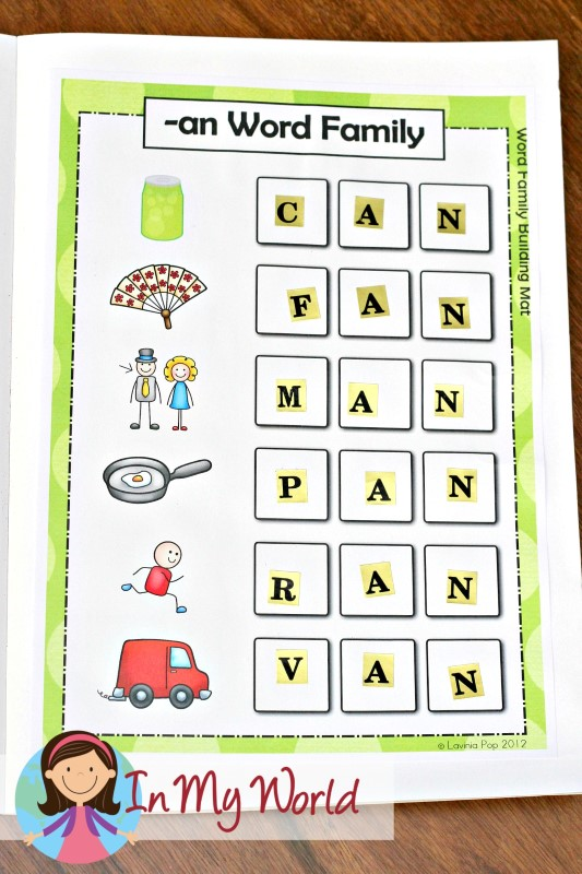 FREE -an Word Family Word Building Mat
