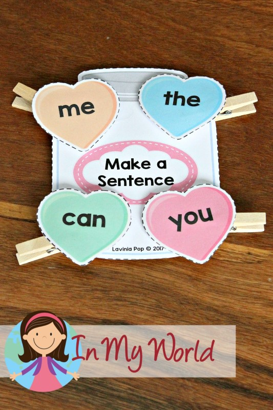 FREE Preschool Valentine's Day Centers Make a sight word sentence