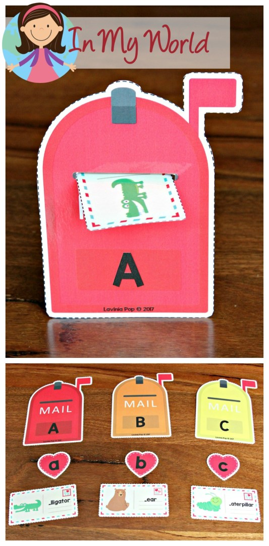 FREE Preschool Valentine's Day Centers Mailbox Begining Sounds sorting
