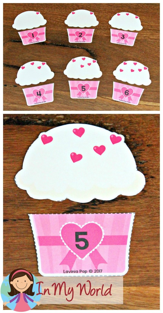 FREE Preschool Valentine's Day Centers Cupcake Number Matching Activity