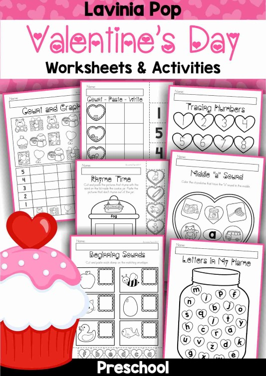 Preschool Valentine's Day Worksheets and Activities