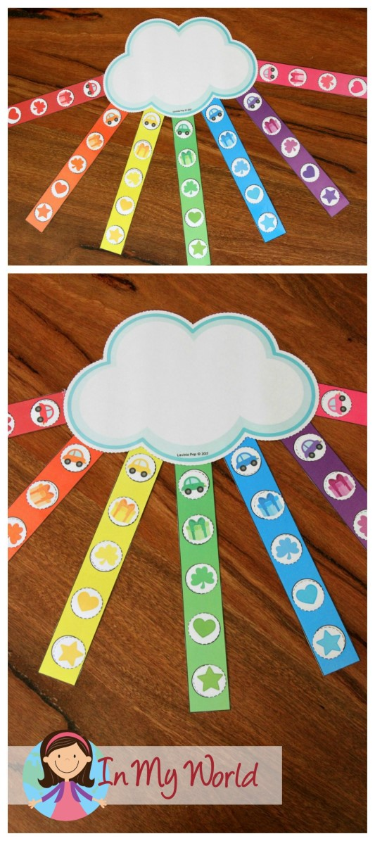 FREE St. Patrick's Day Preschool Centers Color sorting