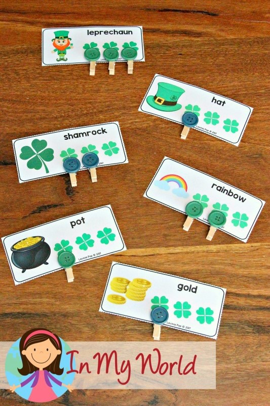St. Patrick's Day Preschool Centers Syllable Cards