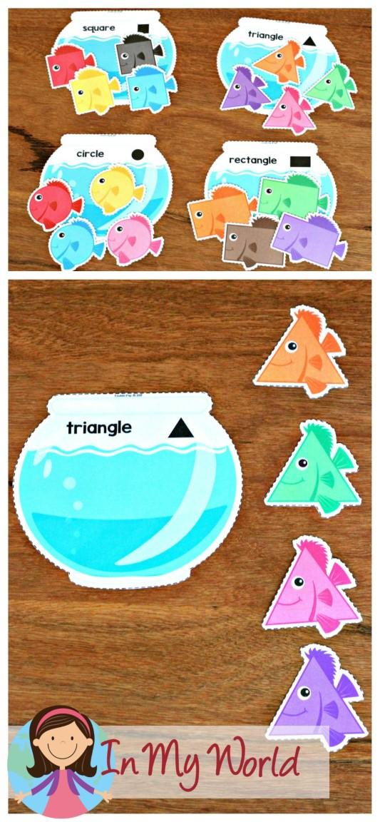 Ocean Preschool Centers on Preschool Sequencing Cards