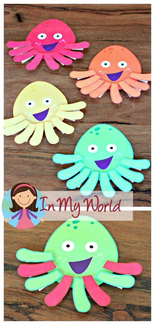 FREE Ocean Preschool Centers match the colored tentacles to the correct octopus