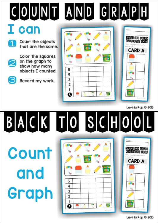 FREE Back to School Math Centers for Kindergarten