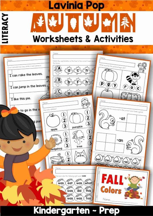 Autumn Worksheets and Activities for Kindergarten.
