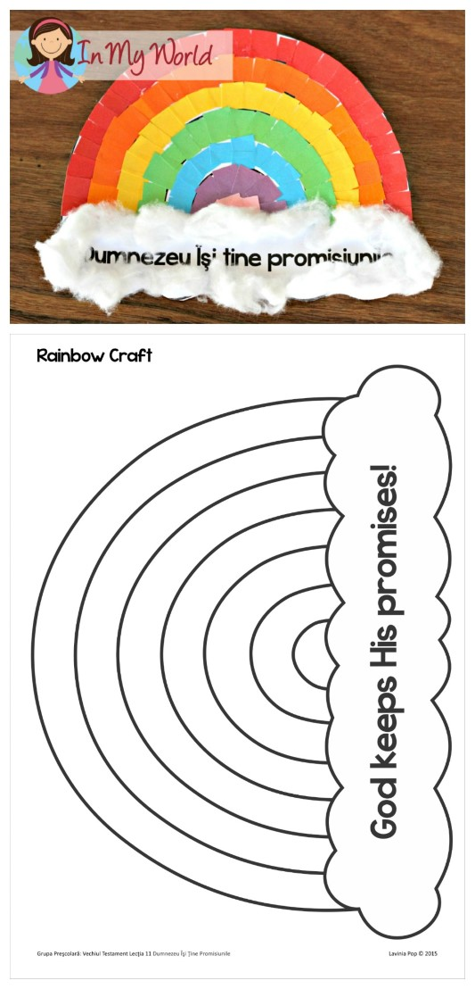 FREE Sunday School Lesson God Keeps His Promises Rainbow craft