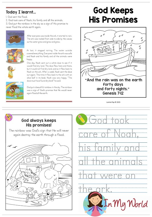 FREE Sunday School Lesson God Keeps His Promises take-home page